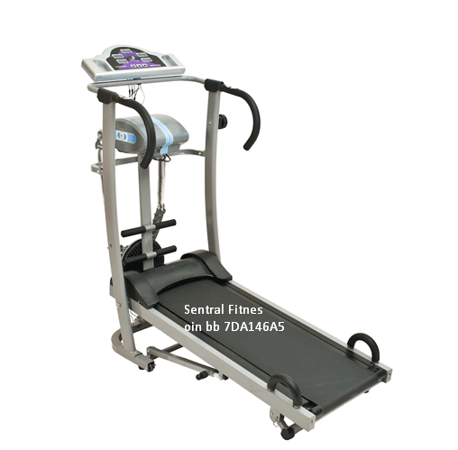 treadmill manual magnetic 4 fungsi