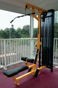 Jual Alat Fitnes Lat Pull Down + Rowing Machine